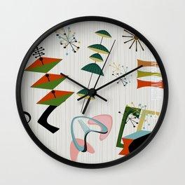 Retro Atomic Era Inspired Art Wall Clock