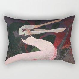 Laughing spoonbill Rectangular Pillow