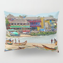 Colorful Coastal Fishing Fleet Pillow Sham
