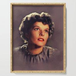 Katharine Hepburn, Vintage Actress Serving Tray