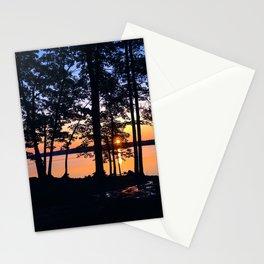 Sunrise at Lake Pemaquid Campground in Damariscotta, Maine (2) Stationery Cards