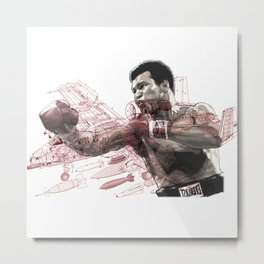 """Float like a Warhog"" ALI Metal Print"