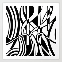 smoothed confusion Art Print