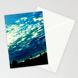Over the shoulder clouds. Stationery Cards