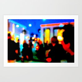 LA at Night Art Print