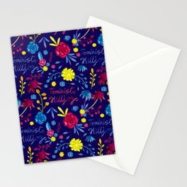 Bright Colourful Floral Feminist Killjoy Pattern Stationery Cards