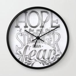 Hope vs. Fear Wall Clock