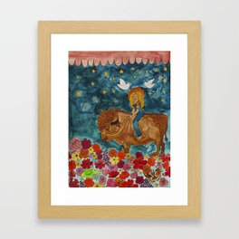 bison dreamland Framed Art Print