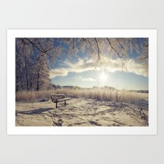 Sit and chill Art Print