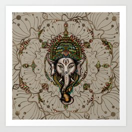 Lord Ganesha - Canvas Lord Ganesha - Canvas Art Print