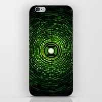 green lantern iPhone & iPod Skins featuring Green Lantern by Electra