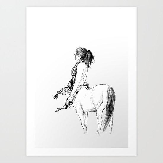 horses for courses III Art Print
