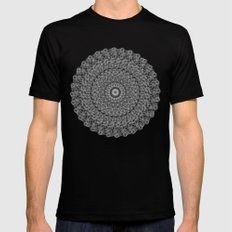 Mandala Black Mens Fitted Tee MEDIUM