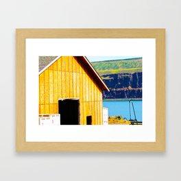 Wine Barn Riverside Framed Art Print