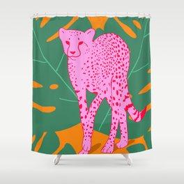 A quick cheetah Shower Curtain