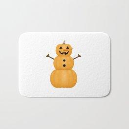 Pumpkin Snowman Bath Mat
