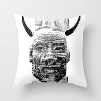 pocket fuel Throw Pillows featuring Nightmare Fuel by Danielle Brady