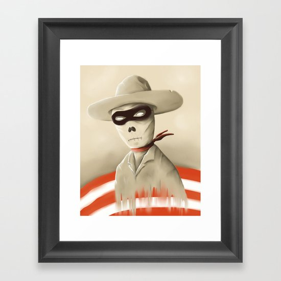 Wild wild death Framed Art Print