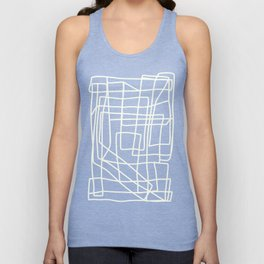 Lost Lines in Pink Unisex Tank Top