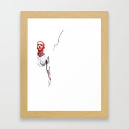 Barely there I see you Framed Art Print