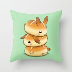 Hot Cross Bunbuns Throw Pillow