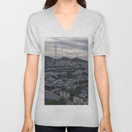San Francisco - Sutro Tower Chill Unisex V-Neck