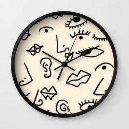 Senses #drawing #abstract Wall Clock