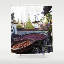 View from the Nunnery, Myanmar Shower Curtain