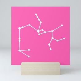 Sagittarius (White & Pink) Mini Art Print