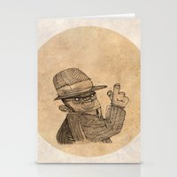 gangster Stationery Cards featuring Gangster finger by Pedro Hamdan