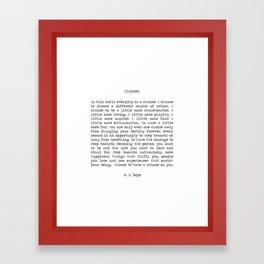 Chances Framed Art Print