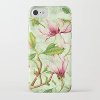 magnolia iPhone & iPod Cases featuring Magnolia by CatDesignz