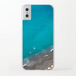 Positano Beach Umbrellas Clear iPhone Case