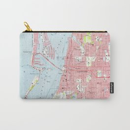 Vintage Map of Clearwater Florida (1974) Carry-All Pouch