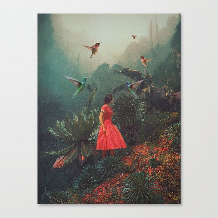 20 Seconds before the Rain Canvas Print