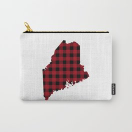 Maine - Buffalo Plaid Carry-All Pouch