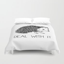 Deal With It Hedgehog Duvet Cover