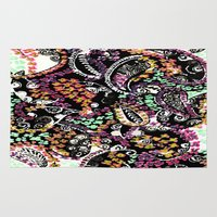 paisley Area & Throw Rugs featuring PAISLEY by  Ray Athi