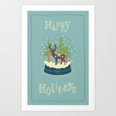 Christmas Snow Ball Art Print