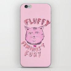 Fluffy Feminist Fury iPhone & iPod Skin