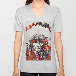 Modern Red Indian Chief - Sharon Cummings Unisex V-Neck