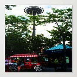 Seattle Center with Space needle Canvas Print