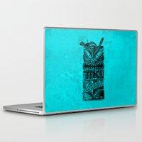 tiki Laptop & iPad Skins featuring Tiki Paradise by Fontolia (Katie Blaker)