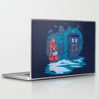 hallion Laptop & iPad Skins featuring Big Bad Wolf by Karen Hallion Illustrations