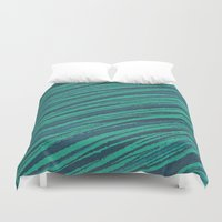 rocks Duvet Covers featuring rocks by spinL