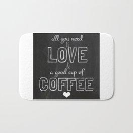 Love and coffee Bath Mat