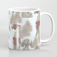 bears Mugs featuring Bears  by Ellie Price