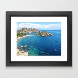 Turquoise water Framed Art Print