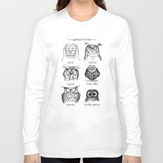 Caffeinated Owls Long Sleeve T-shirt