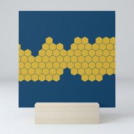 Honeycomb Blue Mini Art Print